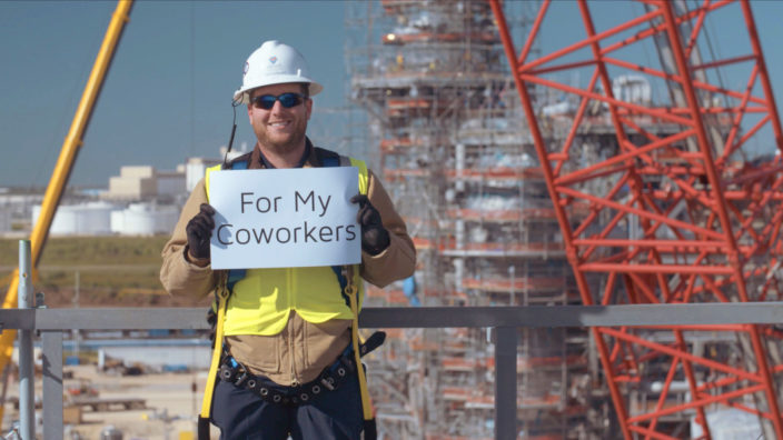 Client - Versa Integrity Group, Location - Freeport, Texas, Purpose - Safety Video (Signs)