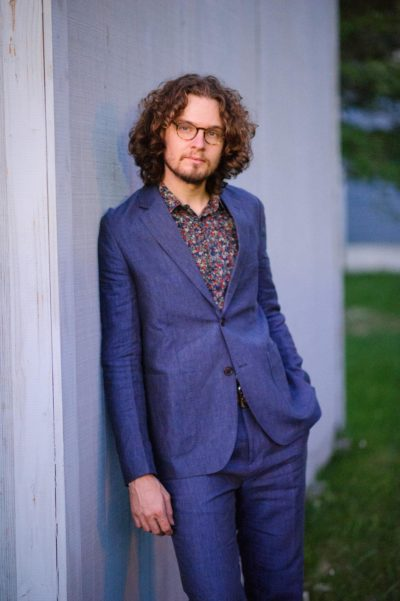 Aaron Hogan Blue Linen Suit