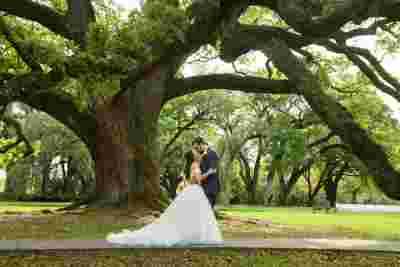 Best Professional Luxury Dream Wedding Outdoor Bride Groom Kiss Oak Tree at Houmas House Plantation Louisiana Photo17