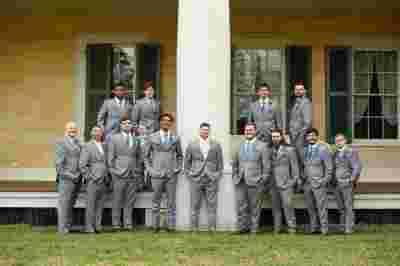 Best Professional Luxury Dream Wedding Photographer Groomsmen Classic Photo Outdoor at Houmas House Plantation Louisiana 79