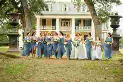 Best Professional Luxury Dream Wedding Photography Bridesmaids Group Photo at Houmas House Plantation Louisiana 32