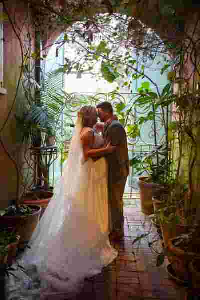 Best Professional Luxury Dream Wedding Photography Bride Groom Kiss Outdoor Tunnel Photo 64