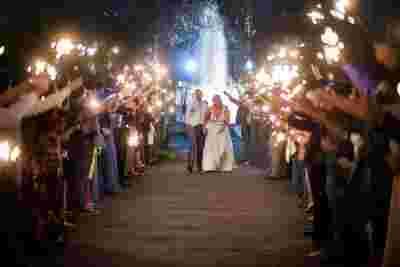 Best Professional Luxury Dream Wedding Ceremony Photography Nighttime Sparklers Bride Groom Photo 19