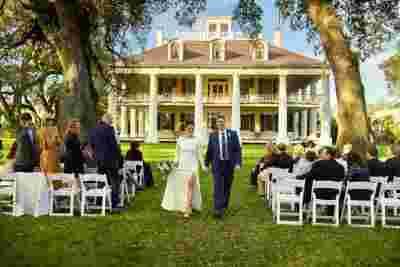 Best Professional Luxury Dream Wedding Outdoor Ceremony Photography at Houmas House Plantation Louisiana Photo 06